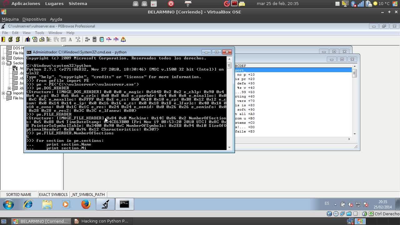 Hacking con Python Parte 31 – Examinando programas y librerías con pefile y pydasm
