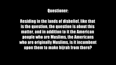 Hijrah and Residing in the Lands of Disbelief – 01 – Sheikh al-Albaanee