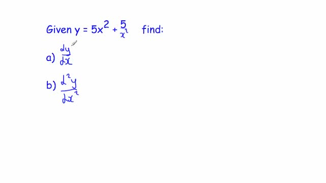 Second Order Derivative