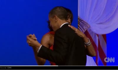 President Obama and the First Lady Dance