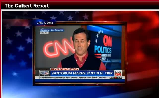 1-09-12 Stephen Colbert Rick Santorum- Gays and Blacks