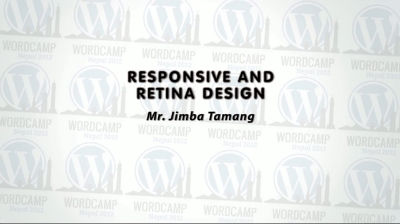 Jimba Tamang: Responsive and Retina Design