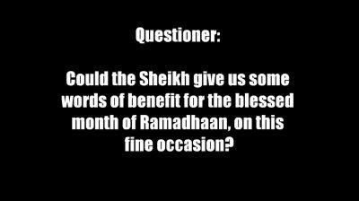 Sunnahs Neglected in Ramadhaan – Sheikh Muhammad Naasir-ud-Deen al-Albaanee