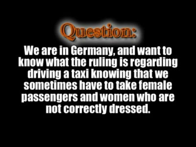 Ruling on Taxi Drivers Accepting Female Passengers – Shaykh Ubayd al-Jaabiree