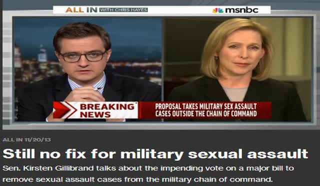 STILL NO FIX FOR MILLITARY SEXUAL ASSAULT