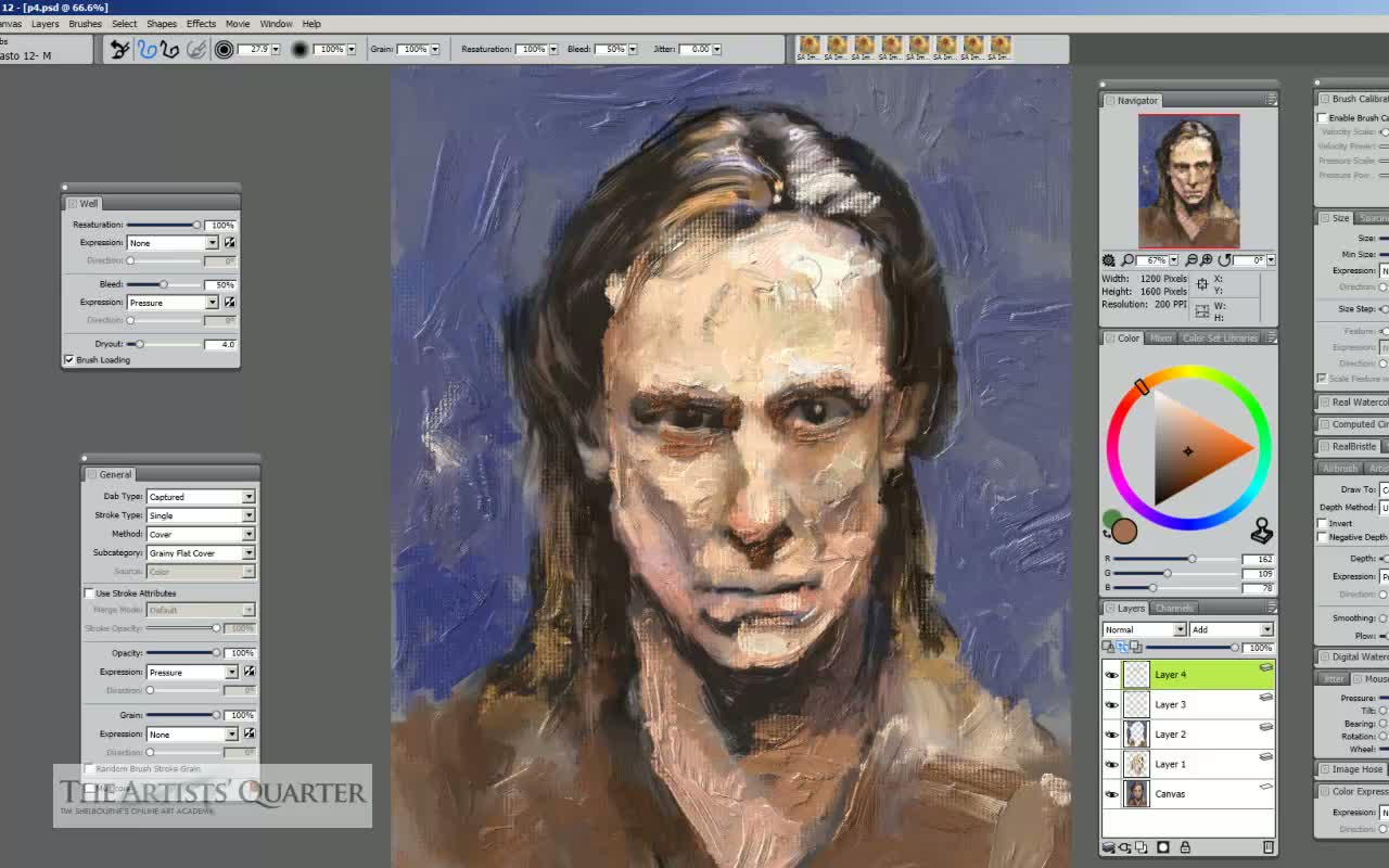 Tim&#8217;s Impasto Sketch