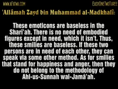 Ruling on Chat Smilies (Emoticons) – Shaykh Zayd al-Madkhali