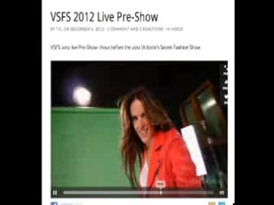 VSFS 2012 Pre Show All Behati Prinsloo parts