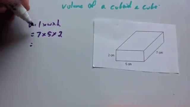 Volume of a cuboid and cube