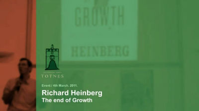 Richard Heinberg in Totnes – The End of Growth