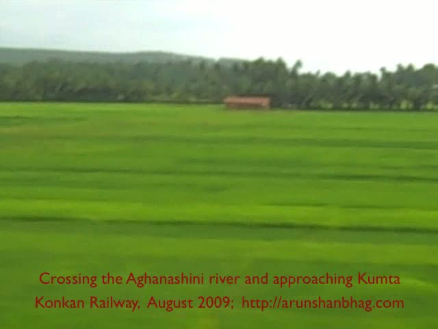 Approaching Kumta on Konkan Railway