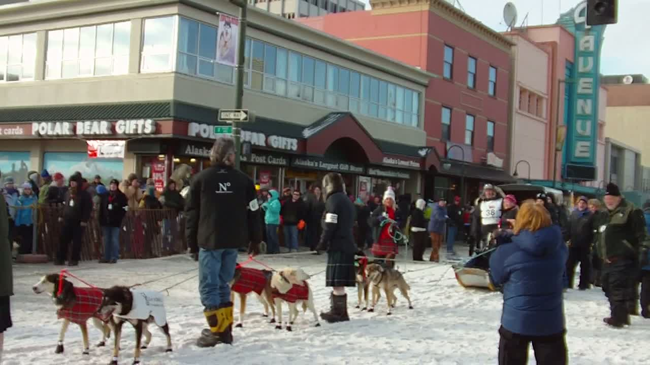 Wattie McDonald at 2011 Iditarod Race Start, Anchorage