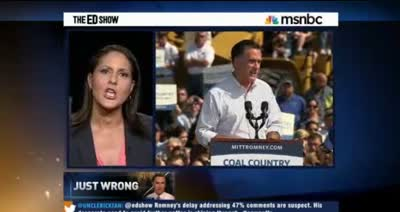 EDSHOW ROMNEY WALKS BACK 47 PER CENT