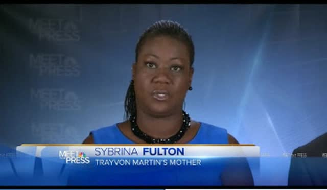 TRAYVON'S MOM ON A CAMPAIGN