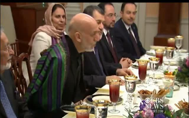 CBS NEWS – KARZAI DINNER