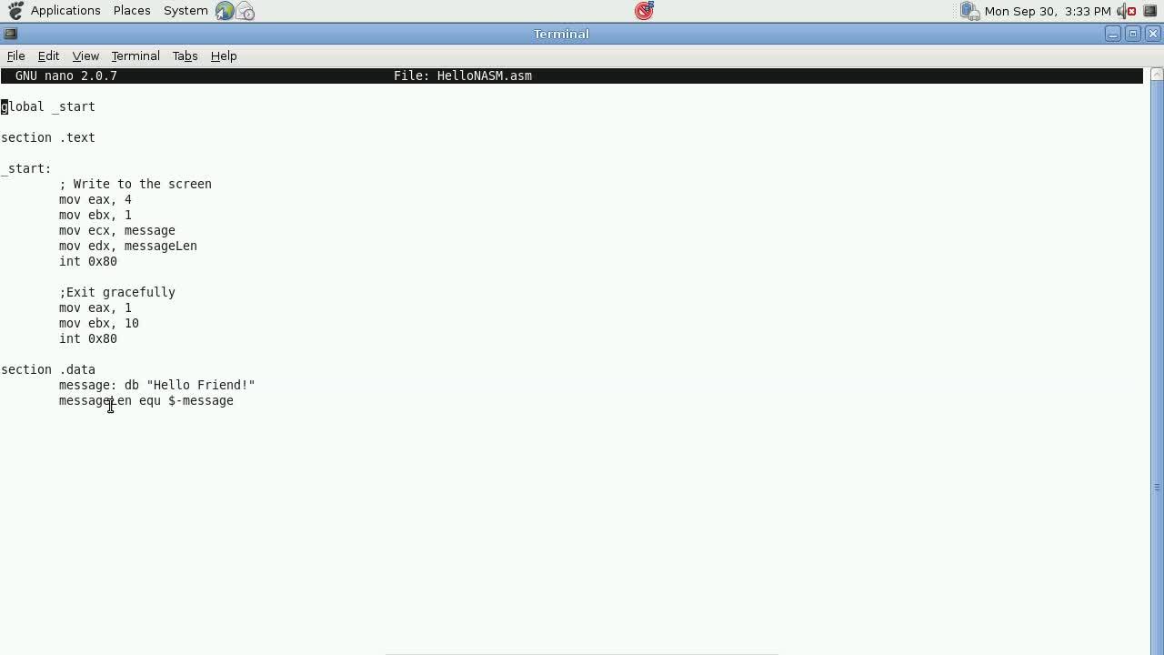 Explotación de Software Parte 14 – Introducción a NASM y MASM