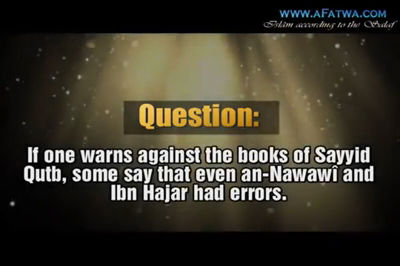 To compare an-Nawawî and Ibn Hajar with Sayyid Qutb