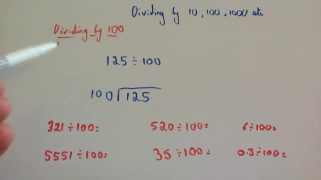 Division by 10, 100 and 1000 – Corbettmaths
