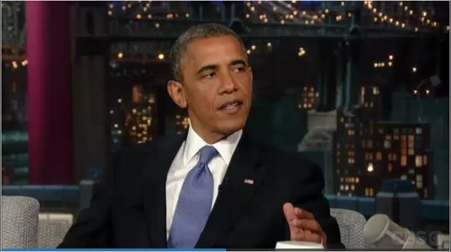 Late Show-David Letterman – President Barack Obama