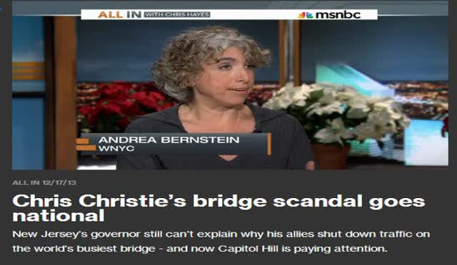CHRISTIE'S BRIDGE PROBLEM GOES NATIONAL