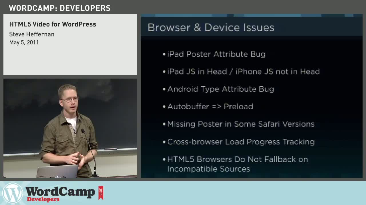 Steve Heffernan: HTML5 Video for WordPress