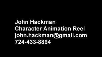 John_Hackman Animation DemoReel2011