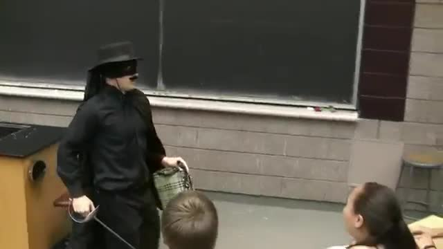 Zorro Kills Thief in Lecture Prank (with Mariachi Band), University of Michigan