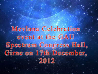 Mevlana event at the GAU Spectrum Congress Hall, Girne