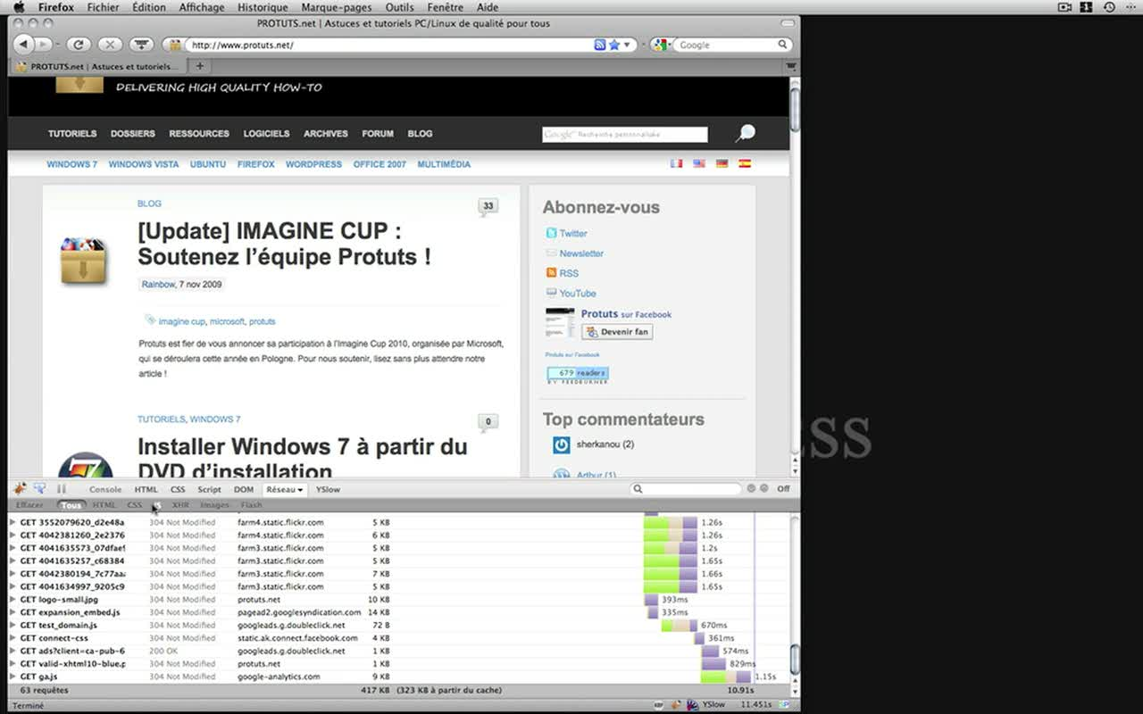 Concevoir des the€mes WordPress – utilisation de Firebug et de YSlow