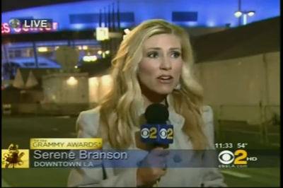 Reporter Serene Branson – CBS 2 LA – Grammys