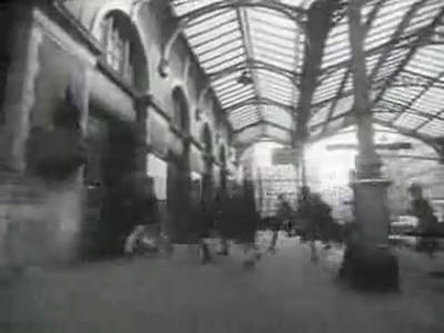 Marylebone Station in 'A Hard Day's Night' (1964, copyright Miramax Films)