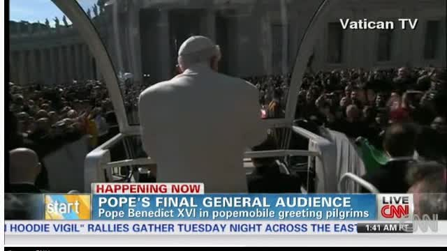 POPE GIVES LAST GENERAL AUDIENCE