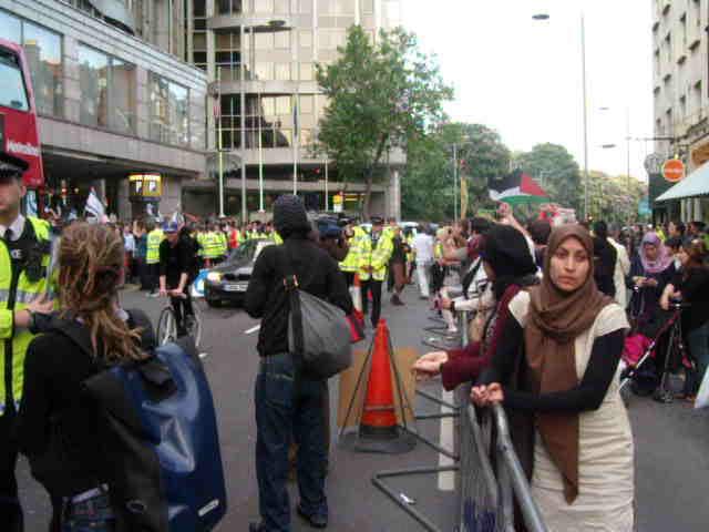 2nd June, outside Israeli Embassy, London
