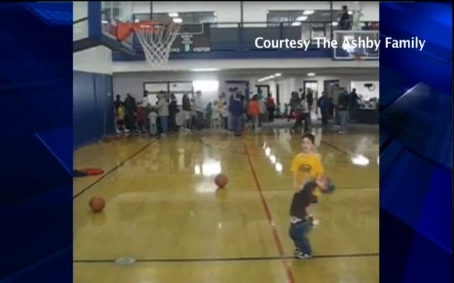 Asby Toddler Shoots Hoops