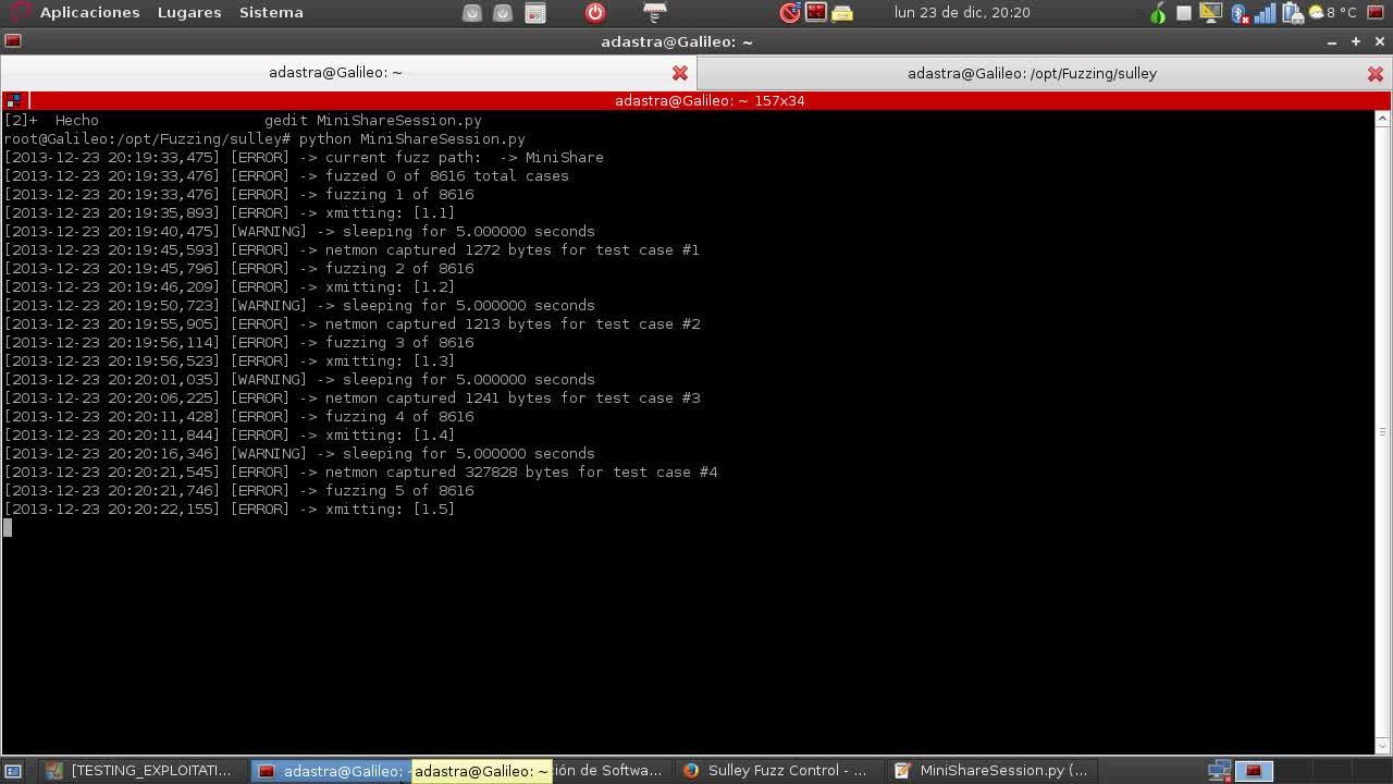 Explotación de Software Parte 20 – Fuzzing con Sulley Framework