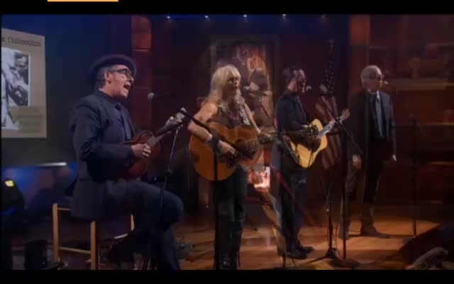 Stephen Colbert Elvis Costello Emmylou Harris Dick Fleming