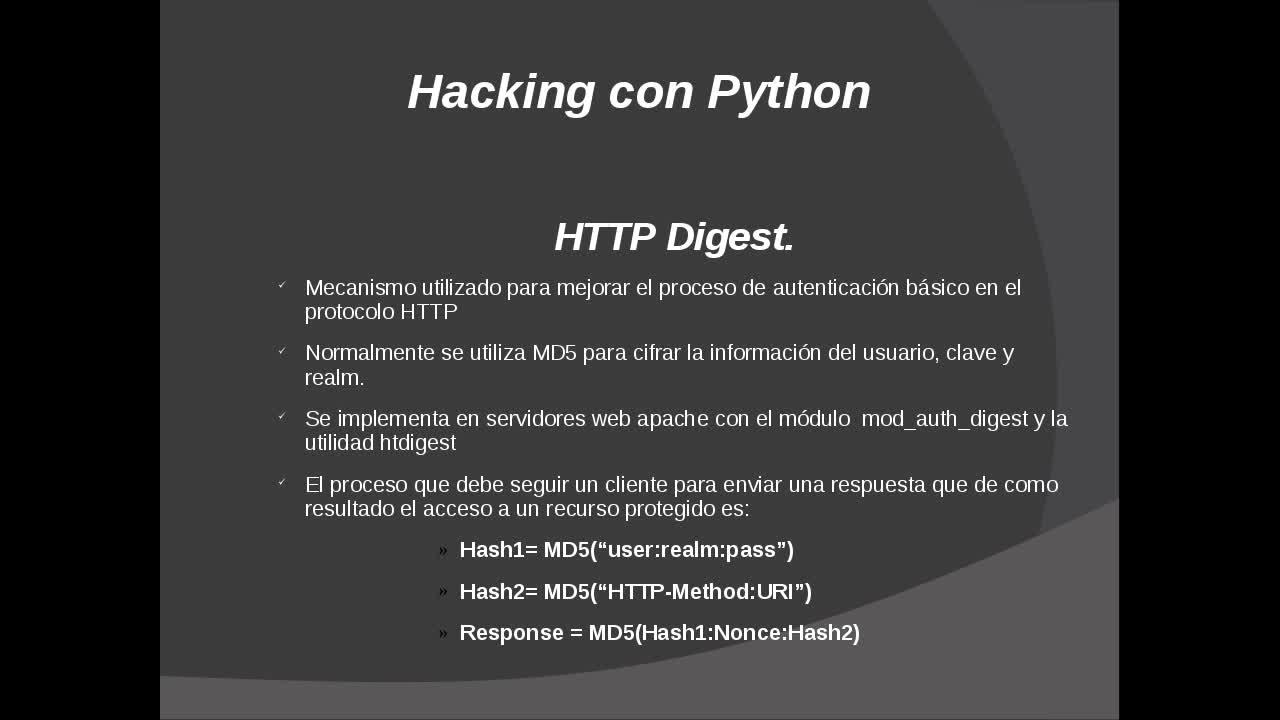 Hacking con Python Parte 13 – Mecanismos de autenticación en protocolo HTTP