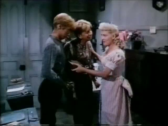 The Beautiful Blonde From Bashful Bend (1949) – Guns in the classroom