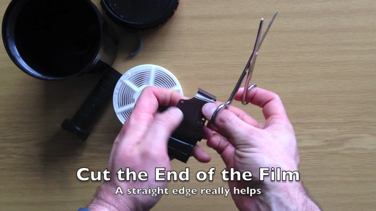 Loading a Film Reel