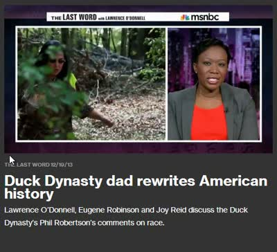 DUCK DYNASTY DAD RE-WRITES AMERICAN HISTORY