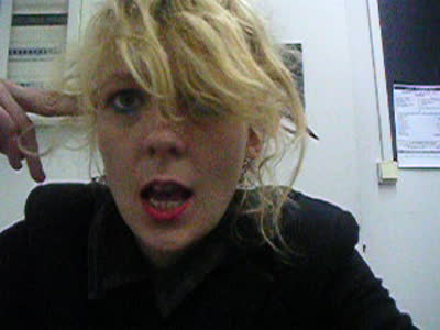 Lettie backstage after supporting Peter Murphy in Athens 2009