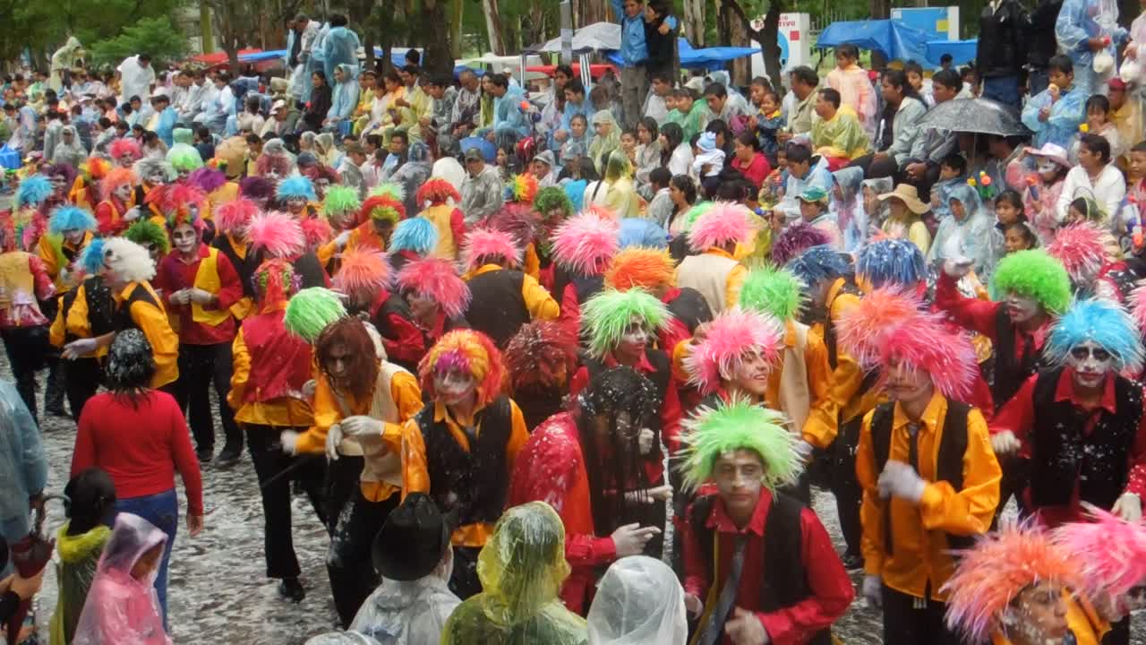 Performers at carneval in Tarija, Bolivia