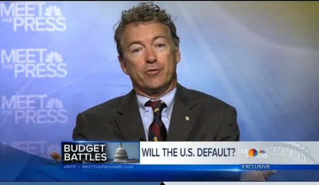RAND PAUL – THERE IS NO NEED TO DEFAULT