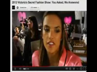 VSFS 2012 Angels and models answer Twitter Fans _Behati Prinsloo