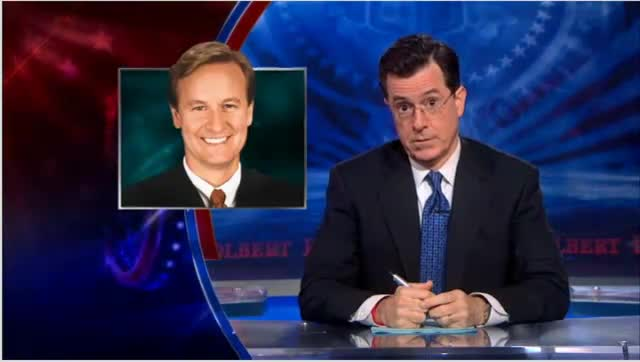 Stephen Colbert on Steve Doocy of FoxNews
