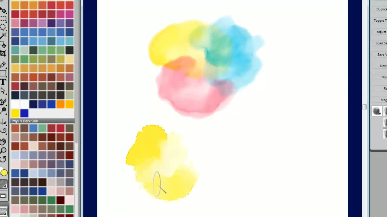 Watercolor Digital Blending