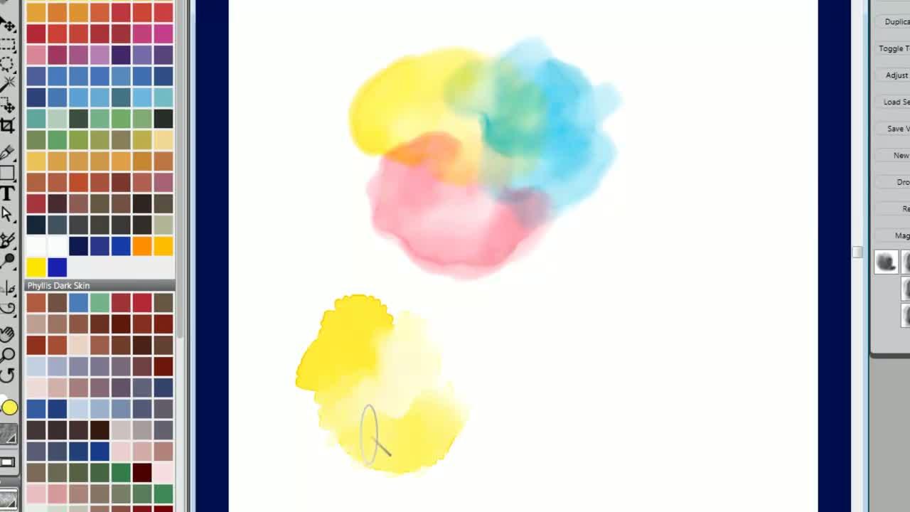Watercolor Digital Blending