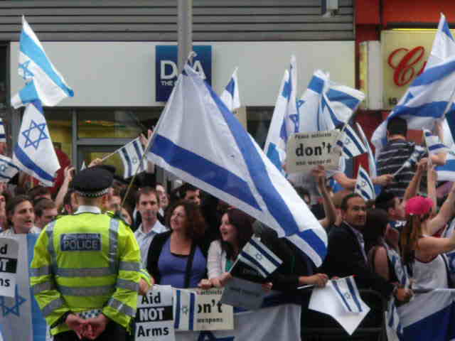 2nd June, outside Israeli Embassy, London.