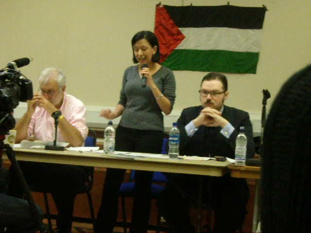 "A ""Palestinian refugee"" speaks last night (www.richardmillett.wordpress.com)"