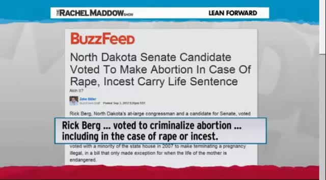 MADDOW BLOG &#8211; REPUBLICANS AND ABORTION LET BY TEAM ROMNEY-RYAN